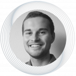 Black-and-white portrait of Moritz Stumpe, Junior Data Scientist