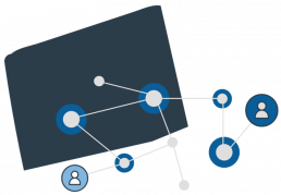 A map of a network of vendors